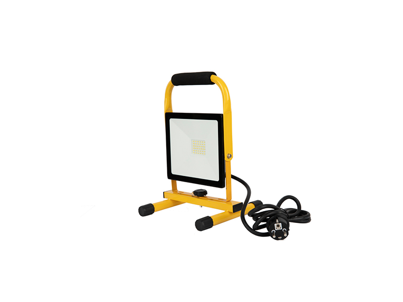Full Power 30W LED outdoor floodlights IP65 with H-bracket with cable and power plug