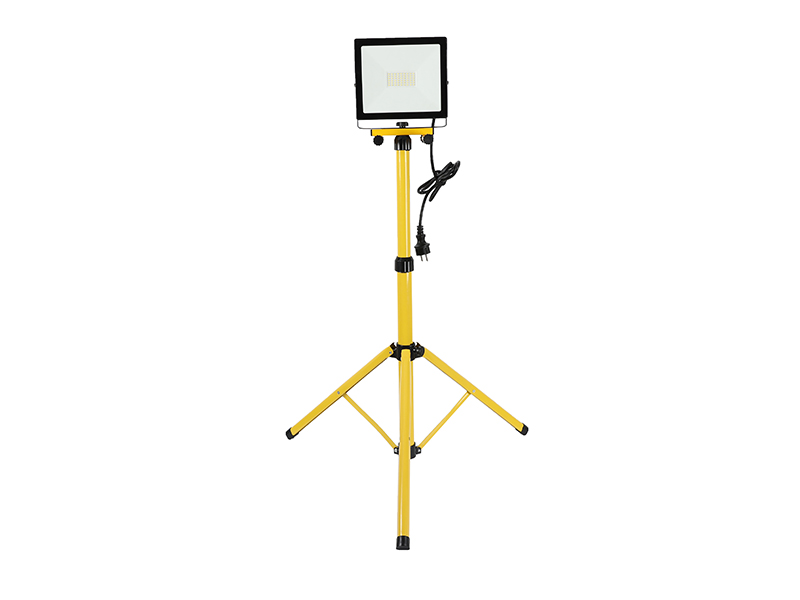 Portable LED 1*30W outdoor floodlight IP65 with Tripod-barcket with cable and power plug