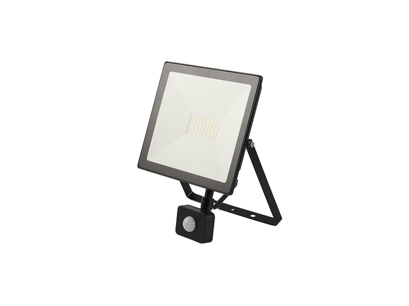 50W PIR sensor outdoor slim led floodlight IP65 FLAT