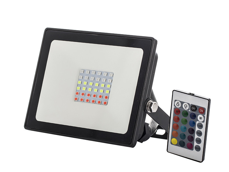 Remote control 20 watt RGB outdoor led flood light, Waterproof Security 20W RBG LED Floodlight