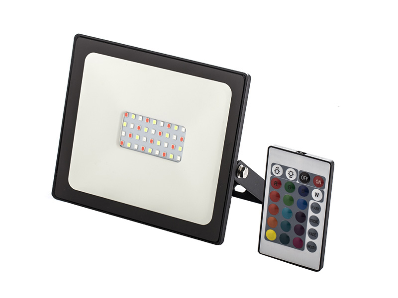 Remote control 30 watt RGB outdoor led flood light, Waterproof Security 30W RBG LED Floodlight