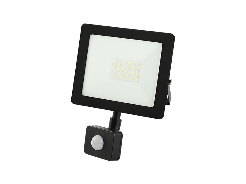 30W PIR sensor outdoor slim led floodlight IP65 with frame