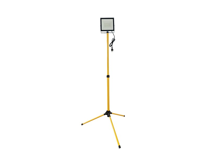 Portable LED 1*50W outdoor floodlight IP65 with Tripod-barcket with cable and power plug